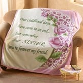 Special Sister Rose Fleece Throw Blanket