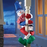 Holiday Snowman Railing or Tree Hugger
