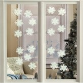 Glow in the Dark Snowflakes Decals - 20 Pc