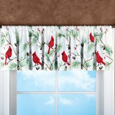 Holiday Cardinal Window Valance