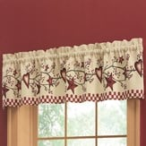 Country Heart Checkered Window Valance