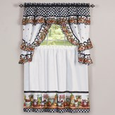 Mason Jars Kitchen Cafe Curtain Set