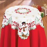 Christmas Snowman Cardinal Table Linens