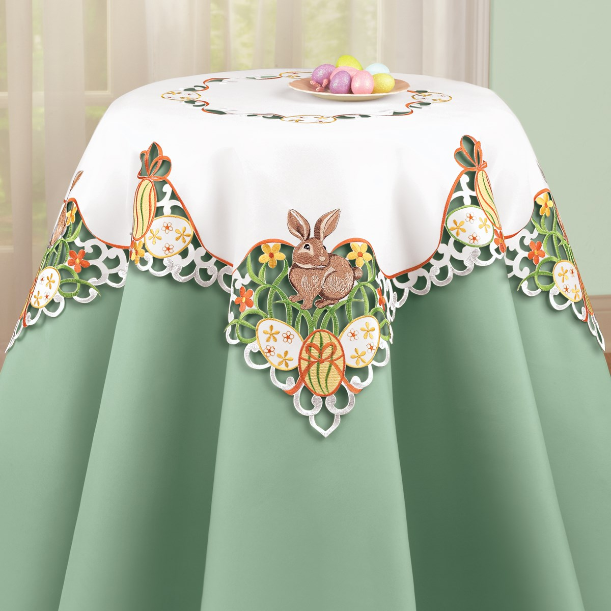 Easter Bunny And Eggs Table Linens Collections Etc