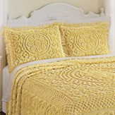 Calista Chenille Pillow Sham with Fringe Border