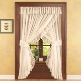 Isabella Ruffled Sheer Fabric Curtain Set