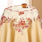 Elegant Fall Leaves Table Linens