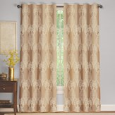 Imperial Lace Embroidered Grommet Curtain Panel