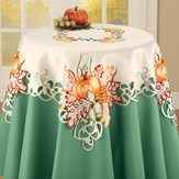 Embroidered Exquisite Pumpkin Table Linens