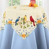 Beautiful Birds Spring Table Linens