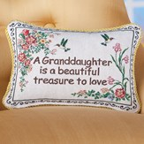 Granddaughter Floral Tapestry Throw Pillow