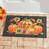 Fall Harvest Skid-Resistant Front Door Welcome Mat