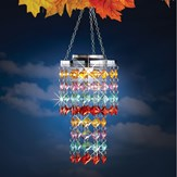 Colorful Sparkling Outdoor Solar Chandelier
