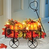 Lighted Pumpkin Wagon Fall Outdoor & Indoor Décor