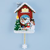 Musical Snowman and Light Up Tree Wall Clock