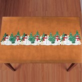 Holiday Snowman Table Linens Festive Accents