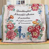 Beautiful Granddaughter Tapestry Throw Blanket