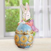 Easter Bunny and Egg Trinket Boxes