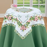 Spring Lilies Cutout Table Linens