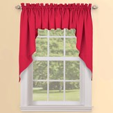 Solid Textured Swag Window Curtain Pair