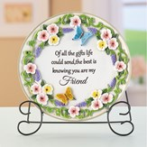 Sentimental Friend Saying Decorative Plate