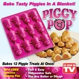 Piggy Pop Pigs-in-a-Blanket Non-Stick Silicone Pan