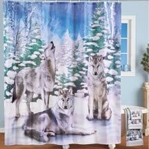 Howling Wolves Shower Curtain