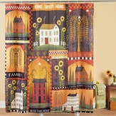Fall Country House Shower Curtain with Hooks