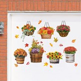 Easy to Remove Fall Garden Garage Magnet