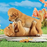 Adorable Playful Puppies Statue