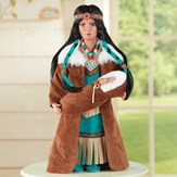 Beautiful Native American Woman with Baby Figurine