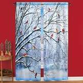 Cardinal Scene Decorative Seasonal Drapes