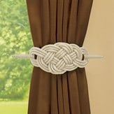 Knot-Style Curtain Tie Backs - Set of 2