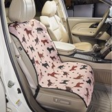 Dog Patterned Car Seat Cover with Adjustable Buckle Clip
