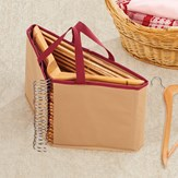 Clothes Hanger Organizer with Carrying Handles