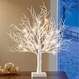 Lighted LED Frosted White Tabletop Tree