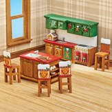 Holiday Gingerbread Miniature Kitchen - Set of 6