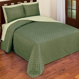 Classic and Elegant Quilted Diamond Textured Reversible Bedspread