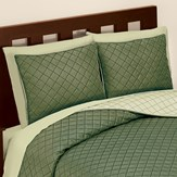 Classic and Elegant Quilted Diamond Textured Reversible Sham