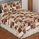 Redwood Patchwork Quilt Set with Shams