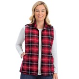 Stylish Versatile Plaid Flannel Full-Zip Quilted Vest