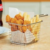 Dishwasher Safe Stainless Steel Metal Mesh Mini Fry Basket