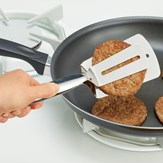 Easy Grip Scoop Squeeze and Serve Spatula Tongs