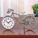 Silver-Toned Chrome Finish Tabletop Bicycle Clock
