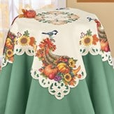 Horn of Plentiful Bounty Fall Cornucopia Table Linens