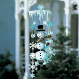 Winter Snowman Holiday Garden Wind Chimes