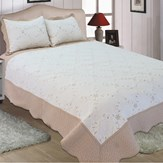 Reversible Dover Embroidered Quilt Set