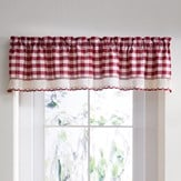 Country Buffalo Check Window Valance