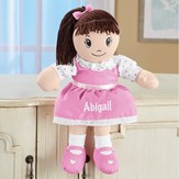 Brunette Personalized Rag Doll